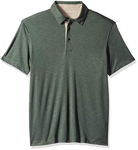 Van Heusen Men's Air Soft Touch Polo Shirt, Green deep Forest, Medium -