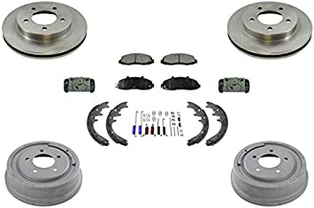 For Front Brake Rotors /& Rear Brake Drums For 1997 1998 1999 Ford F150 F-150