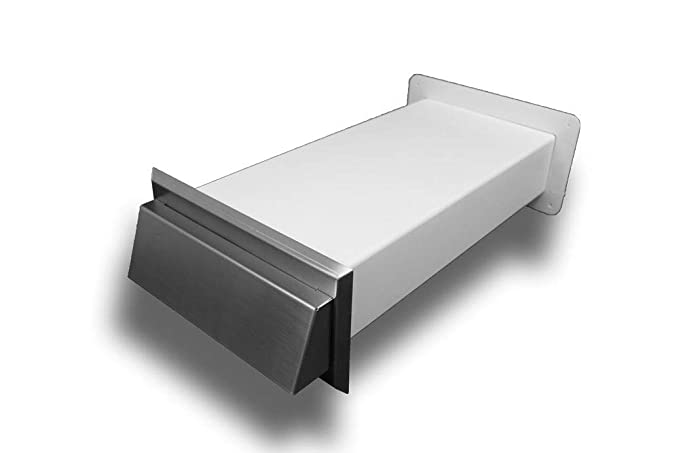90x220 90x220 System 150 Flachkanal Edelstahl Mauerkasten Wanddurchf/ührung flach Abluft Zuluft: 150