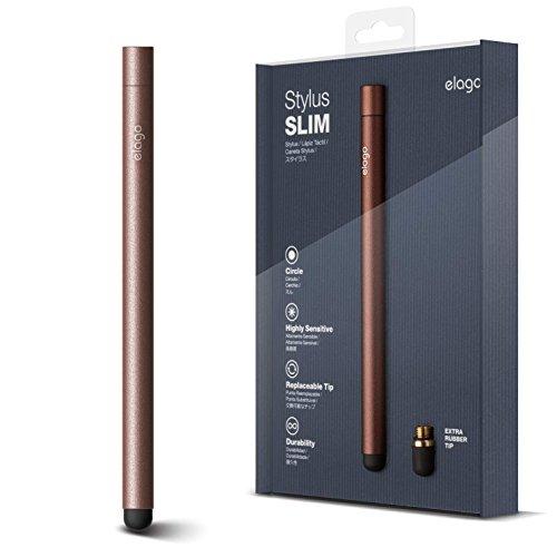 elago Stylus [Slim][Chocolate] - [Premium Aluminum ][Replaceable Tip][Extra Tip Included] - for iPad, iPad Pro, iPad Mini and iPhone