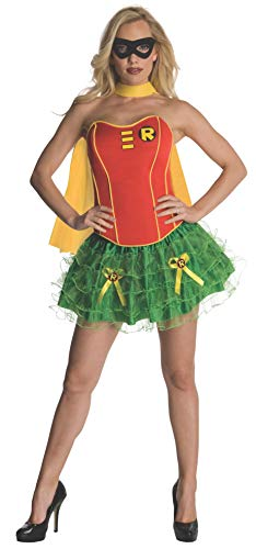 Secret Wishes DC Comics Robin Corset And Tutu Costume, Red/Green, Small -