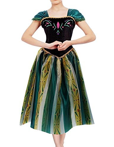 Quesera Women's Anna Costume Frozen Princess Coronation Dress Halloween Costume, White, Tagsize S=USsize XS by Que Sera (Image #2)
