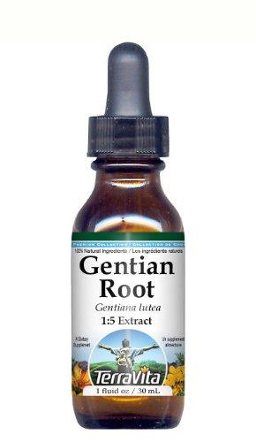 Gentian Root - Glycerite Liquid Extract (1:5) - No Flavor (1 fl oz, ZIN: 428064)