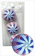 GBM Golf USA Novelty 3 Ball Sleeve, Pinwheel