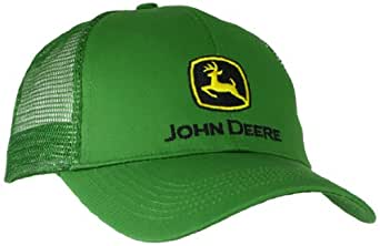 John Deere Men's Logo Mesh Back Core Baseball Cap, Green, One Size