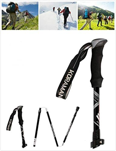 Season Sports Collapsible Hiking Trekking Poles Adjustable Walking Hiking Sticks Lightweight Collapsible Walking Trekking Poles Aluminum Hiking Poles EVA Foam Handle Women Men
