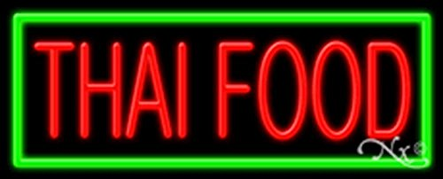 13x32x3 inches Thai Food NEON Advertising Window Sign by Light Master