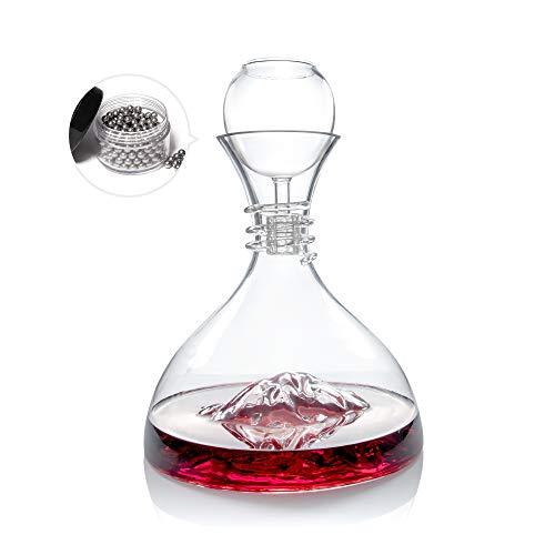 SetGlass Iceberg Decanter Aerating Funnel Set Creative Personality Lead-free Crystal Glass Wine ()