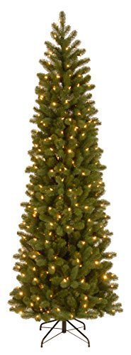 National Tree 6.5 Foot Downswept Douglas Fir Pencil Slim Tree (Slim Pre Lit Artificial Christmas Trees Sale)