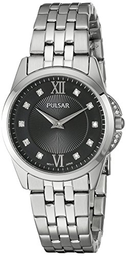 Pulsar Women's PM2167 Dress Analog Display Japanese Quartz Silver - Womens Pulsar Fashion Watch