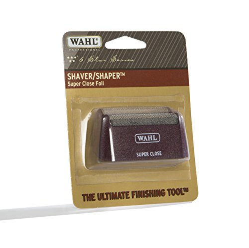 (Wahl Professional 5-Star Series #7031-400 Replacement Foil Assembly - Red & Silver - Super Close)