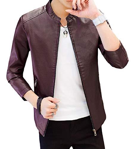 Size Mogogo Con Solido Casuale Plus Coreana Outwear Tasca Maschile Colletto Pattern1 Zip Alla 55qwTrxZng