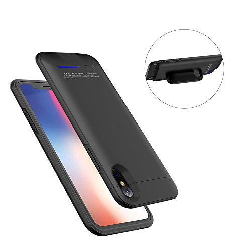 Price comparison product image iPhone X Battery Case,Indmird 4000mAh External Charger Case Rechargeable Charging Case for iPhone X / iPhone 10 ,Slim Portable Battery Pack Juice Bank Cover(5.8-inch)-Black