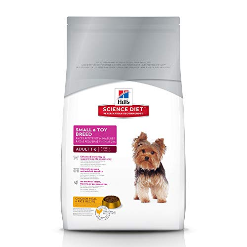 Hill's Science Diet Adult Small & Toy Breed Dog Food, Chicken Meal & Rice Recipe Dry Dog Food