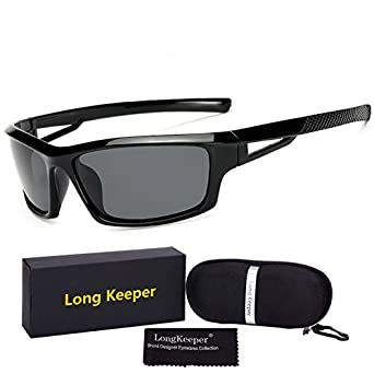 e0b6415bb5b2 Lepakshi Black Grey  Long Keeper Polarized Sunglasses Men Women  Professional Mtb Bicycle Bike Glasses Sports Eyewear Gafas With Case And  Gift Box  ...
