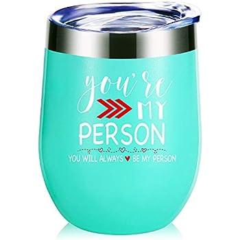 Amazon.com: Vaso de vino, diseño con texto en inglés
