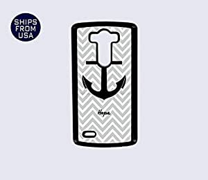 LG G3 Case - Grey Chevron Anchor Hope iPhone Cover