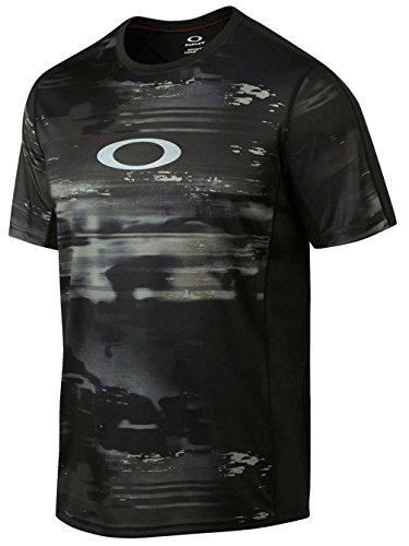 (Oakley Mens Agility 2.0 Short-Sleeve Shirt Small Jet Black)