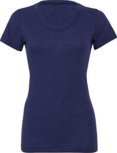 Bella Leinwand Tri-Blend Crew Neck T-Shirt Navy Triblend XL