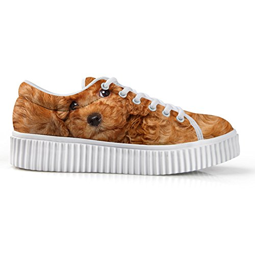 Platform Animal Dog2 Sneakers 3D Face HUGSIDEA Low Fashion Top Printg Shoes SURwqpn