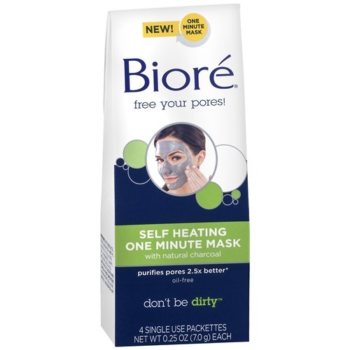 biore-self-heating-one-minute-mask-with-natural-charcoal-4-ea-pack-of-2-by-bior