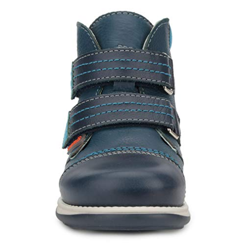 Memo Alex Boys' Corrective Orthopedic High-Top Leather Boot Diagnostic Sole, Navy Blue, 22 (6.5 M US Toddler) by Memo (Image #6)