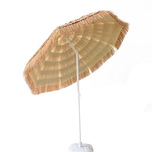 Eight24hours 7 Beach Outdoor Hula Umbrella Thatched Hula
