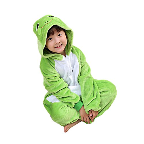 Gerilea Children One Piece Plus Size Frog Onesie Kids Cosplay Anime Pajama Plus ()