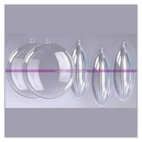 7/cm Set di 5/medaglioni in plastica trasparente per contatto alimentare