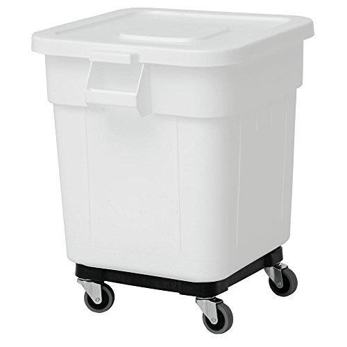Continental Ingredient Bin 32 gal White Plastic - 21 1/2''L x 25''W x 27 1/2''H by CONTINENTAL MFGR COMPANY