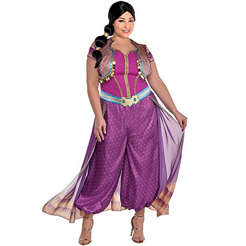 Party City Purple Jasmine Halloween Costume for Women, Aladdin Live Action, Plus Size, with