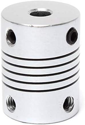 Wellen-Unterstützung Aluminium Flexible Wellenkupplung OD19mm X L25mm CNC Schrittmotor-Koppler-Verbindungs 4mm x 5mm