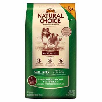 Nutro Natural Choice Lamb and Whole Brown Rice Formula Small Bites Adult Dog Food, 5 lbs., My Pet Supplies