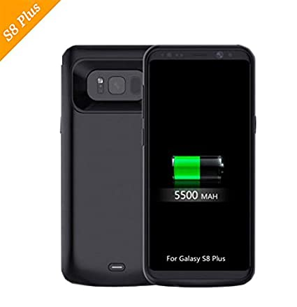 ab7a3f31c Image Unavailable. Image not available for. Color: Galaxy S8 Plus Battery  Case, 5500mAh Charger Case Rechargeable Battery Backup Power Bank Cover For