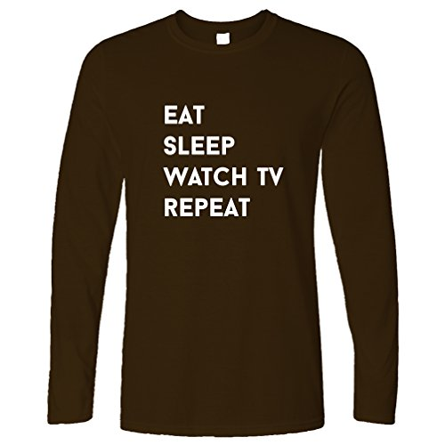 Tim And Ted Eat Sleep Watch TV Repeat Hobby TV Chill Drama Comedy Cartoon Long Sleeve Father Ted Christmas Episode