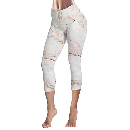 HAOYIHUI Womens Waist Letter Printing Elastic Tight-Fitting Sporting Yoga Pants