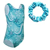 TFJH E Girls Gymnastics Apparel Toddler Tumbling Costume Practice Outfits with Scrunchie Snowflake 6A