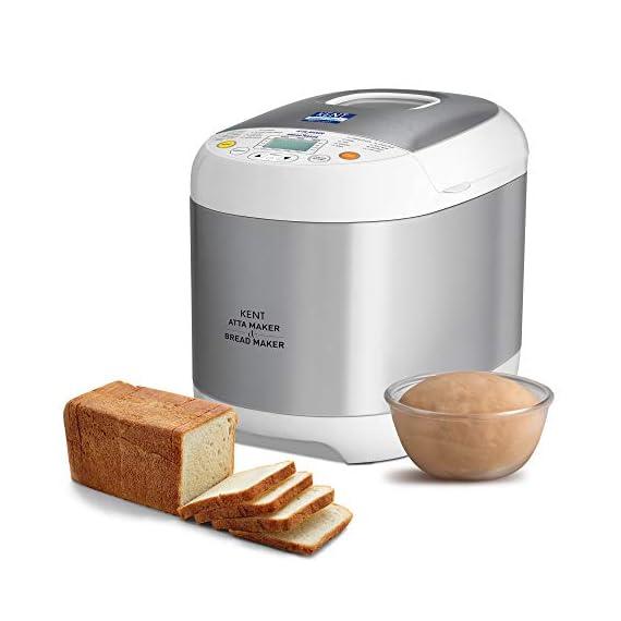 KENT - 16010 Atta and Bread Maker 550-Watt (Steel Grey) 1