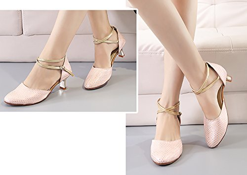 de Danse Moderne Gomme de Latine Womens Fond Sandale Chaussures Carré Rose Talons Bas WYMNAME ZwqXtEvP