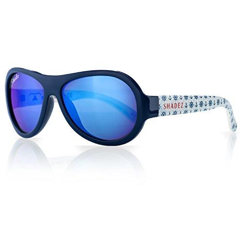SHADEZ Kids Flex Frame Designer Aviator Sunglasses - Anchor, Blue, 3-7 Years - 100% UV Protection for Baby, Children and Teens (Sonnenbrille Trendy)