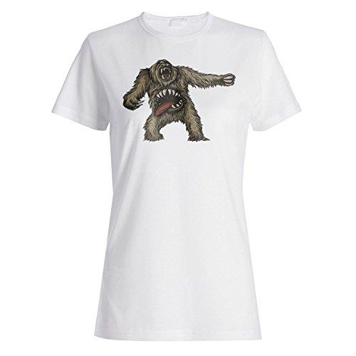 523b9f3526 Monster Glaube Teufel lustige mythische Kreatur Damen Tshirt ss38f ...