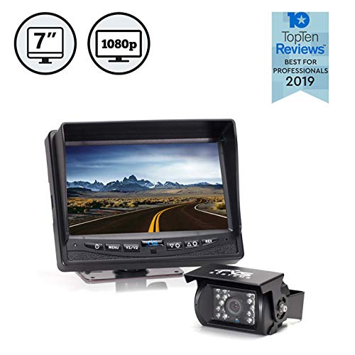Rear View Safety Full HD Backup Camera System with 7'...