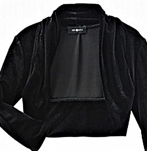 BY AND BY GIRL Amy Byer Girl's Black Velvet Long Sleeve Shrug Jacket Blazer SZ M (10-12) New -