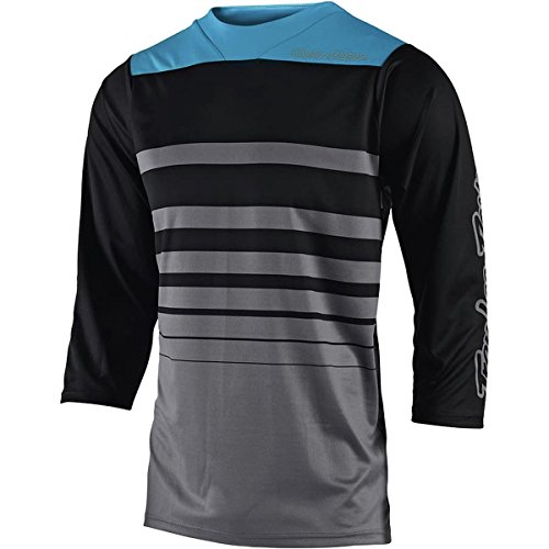 Troy Lee Designs Ruckus 3/4 Sleeve Jersey - Men's Streamline Gray/Black, L - Gray Mens Bike Jersey