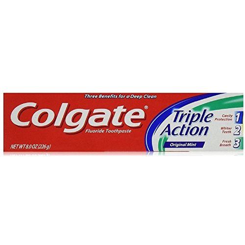Colgate Triple Action Toothpaste, 8 Ounce