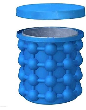 ZhangHongJ,Máquina para Hacer Hielo El revolucionario Ahorro de Espacio(Color:Dodger Blue