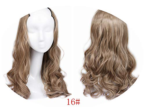 7 Clips In Body Wave Hair Extension Half Wig For Women High Temperature Synthetic,#16,22inches -