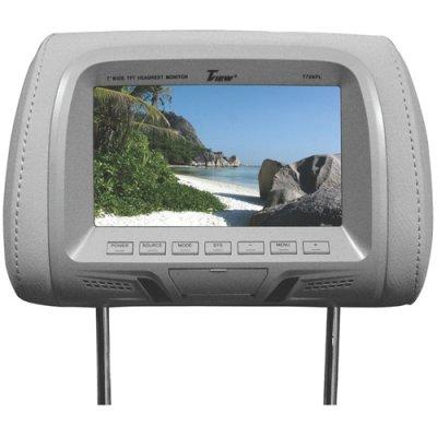 Tview T726plgr 7 Dual Gray Widescreen Headrest Car Monitors T726pl-gr
