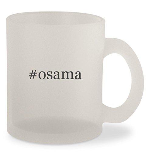 Osama Beard Costume (#osama - Hashtag Frosted 10oz Glass Coffee Cup Mug)