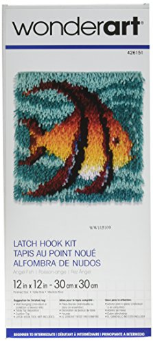 Wonderart Angel Fish Latch Hook Kit, 12
